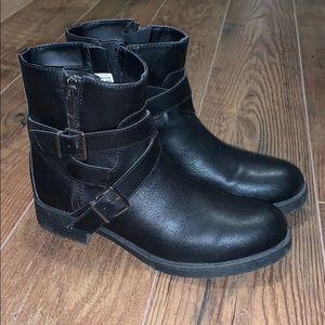Black American Eagle Moto Boots